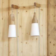 Slope A - Wandleuchte Miniforms, aus Holz und Metall