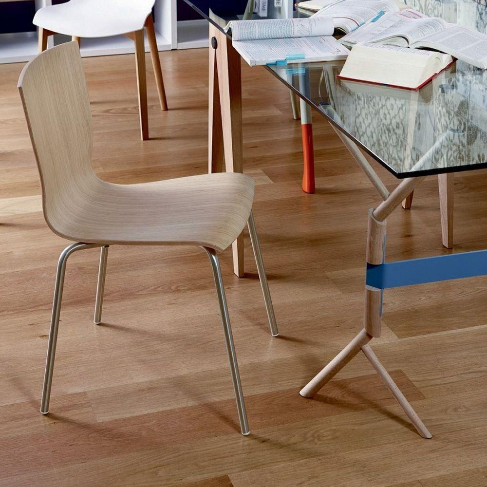Hip silla de colico en metal apilable con asiento en madera o metacrilato transparente o - Sillas de metacrilato transparente ...