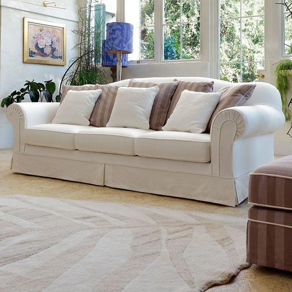 Luigi xvi divano classico a 2 posti 3 posti o 3 posti xl con cuscini arredo completamente - Divano classico tessuto ...