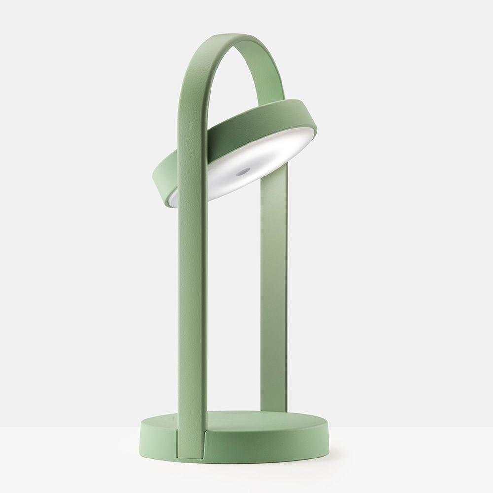 Giravolta per bar e ristoranti lampada da tavolo in alluminio e tecnopolimero senza fili for Lampada da tavolo verde