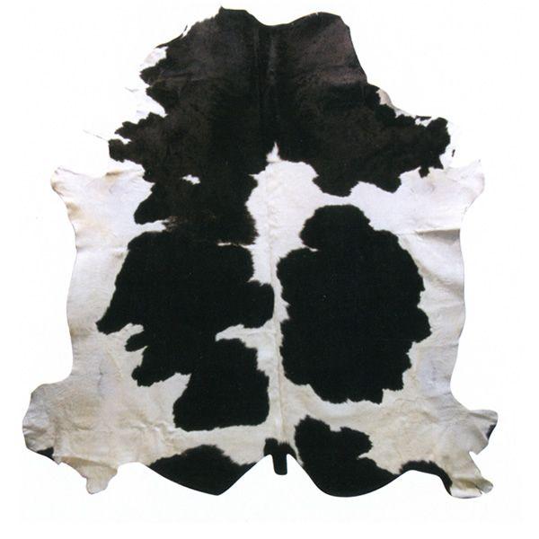 Pelle naturale tappeto mucca in pelle naturale bovino - Tappeto bianco nero ...
