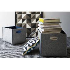 CS7156 Dorian - Set Calligaris storage holders-magazine rack, in felt, available in several colours