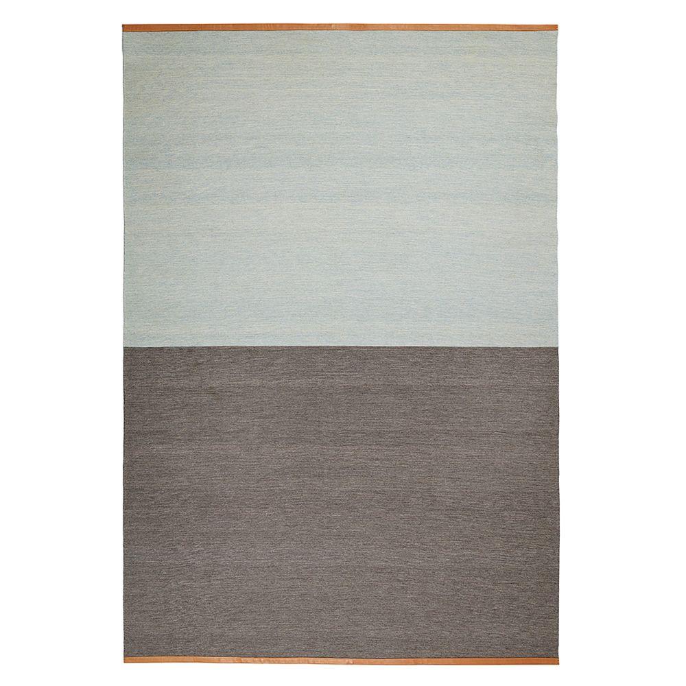 Fields - Tapis en pure laine, bords en cuir, 200 x 300 cm ...