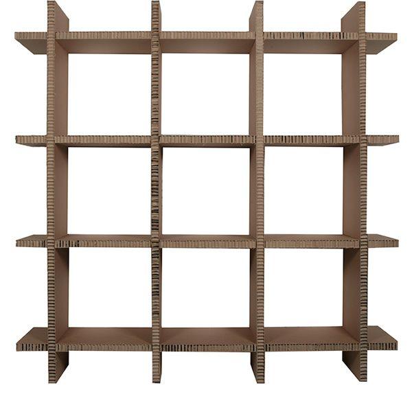 scaffale concept tag re cologique en carton hauteur. Black Bedroom Furniture Sets. Home Design Ideas