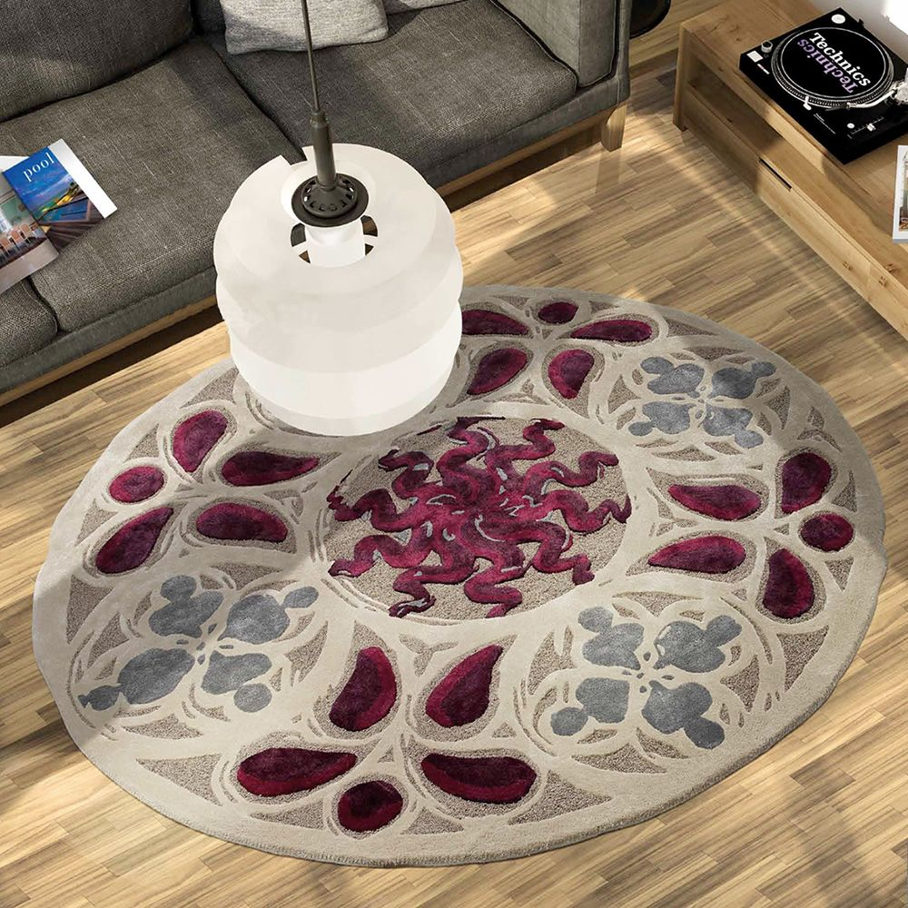 medusa tapis rond de design inspir par les rosaces. Black Bedroom Furniture Sets. Home Design Ideas