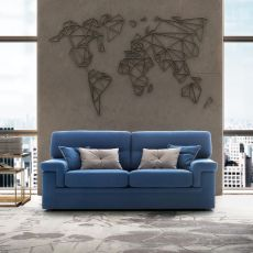 City - Modern sofa, 2, 2-XL or 3 seats, several coverings available
