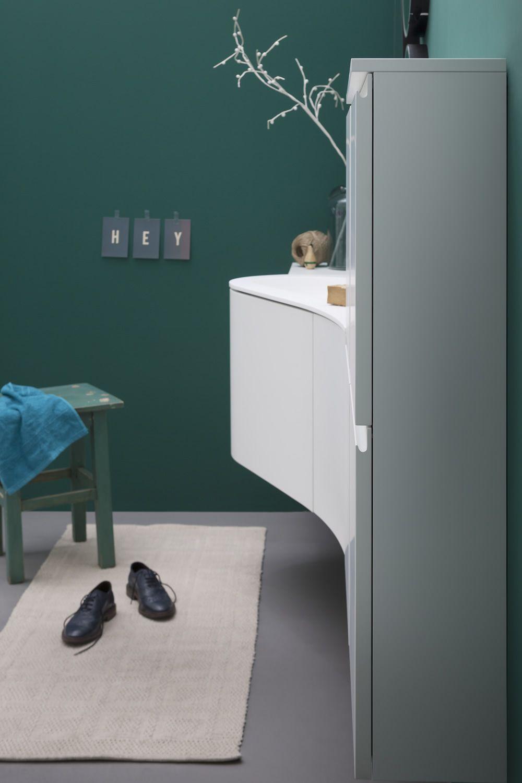 Versa b meuble de salle de bain avec plan et vasque for Meuble de salle de bain avec porte