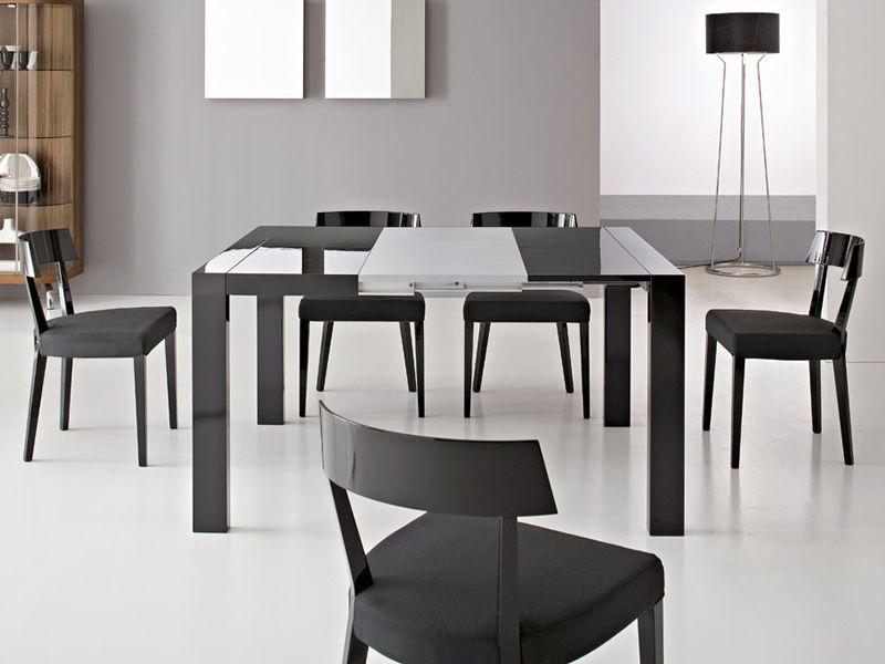 Cs4045 modern x tavolo a consolle modern x tension di for Consolle nera laccata