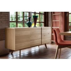 Cargo - Domitalia sideboard made of veneered wood, with doors and drawers