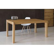 Tavolo 03 - Tavolo allungabile in legno di rovere, piano 160x90 cm