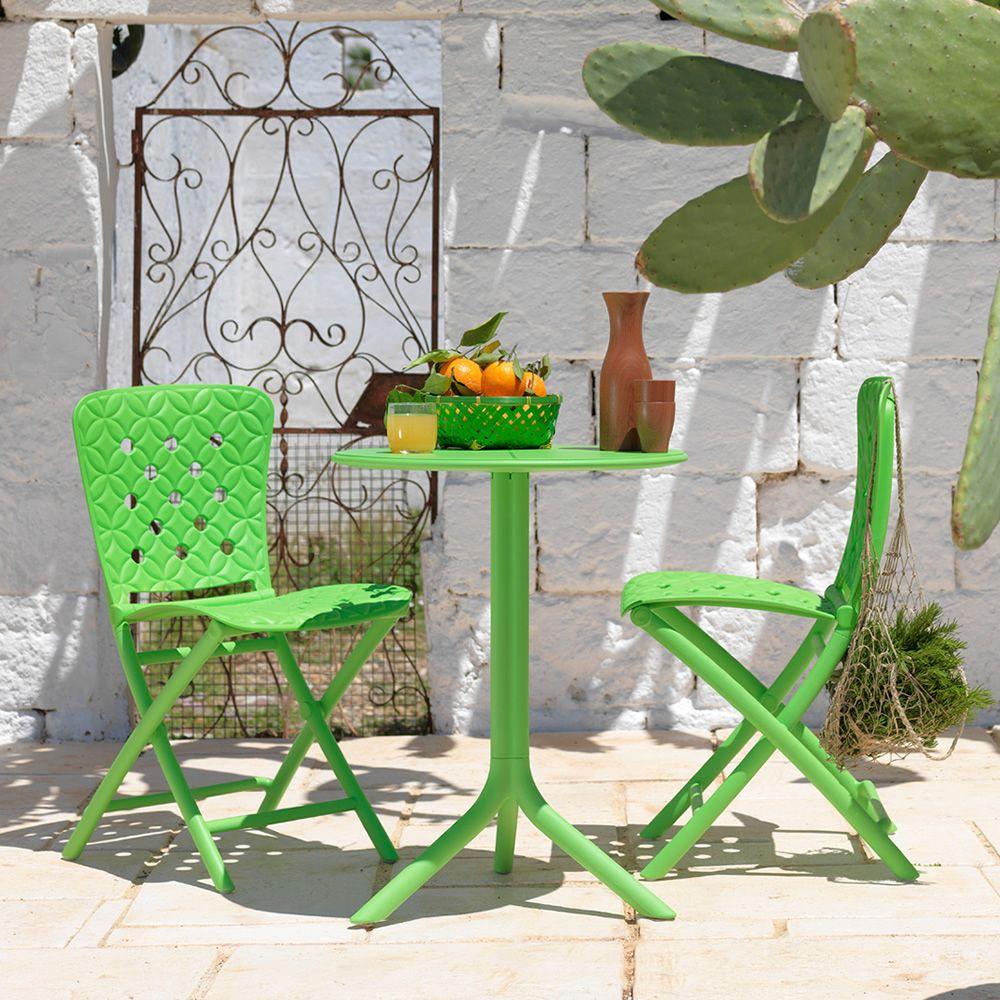 Spritz mesa de polipropileno con tapa redonda di metro 60 5 cms tambi n para jard n sediarreda - Mesa jardin plastico verde ...