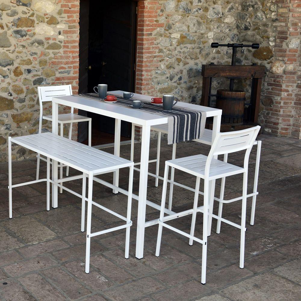 Rig72th table haute en m tal disponible en diff rentes - Banc en metal pour jardin ...