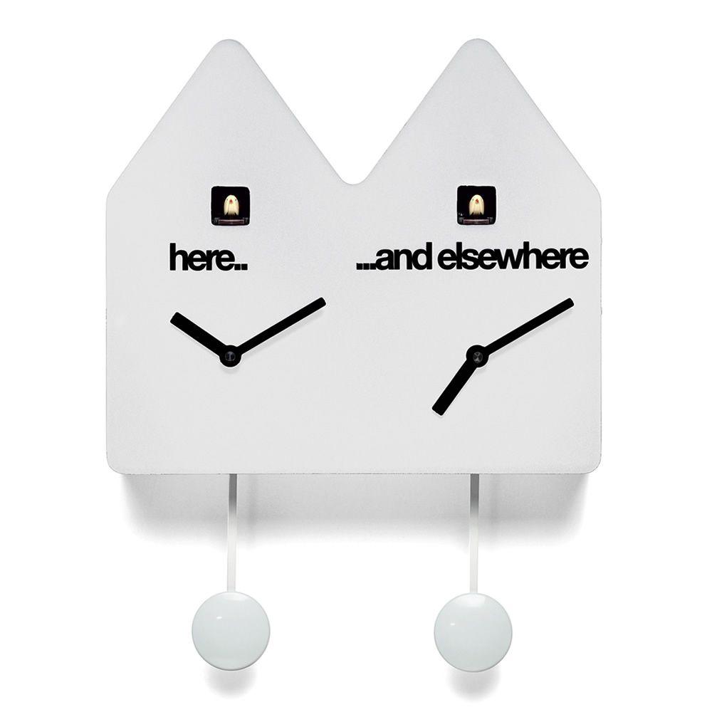 good double q horloge coucou en bois couleur blanc with horloge coucou design. Black Bedroom Furniture Sets. Home Design Ideas
