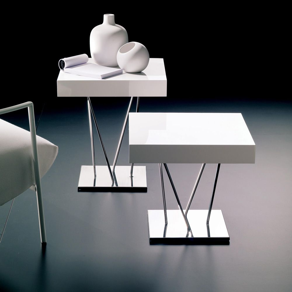 ginger table basse design de bontempi casa en m tal avec plateau en bois disponible en. Black Bedroom Furniture Sets. Home Design Ideas