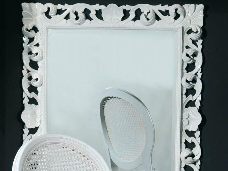 Vst155 miroir rectangulaire en bois laqu ivoire 80x100 for Miroir 80x100