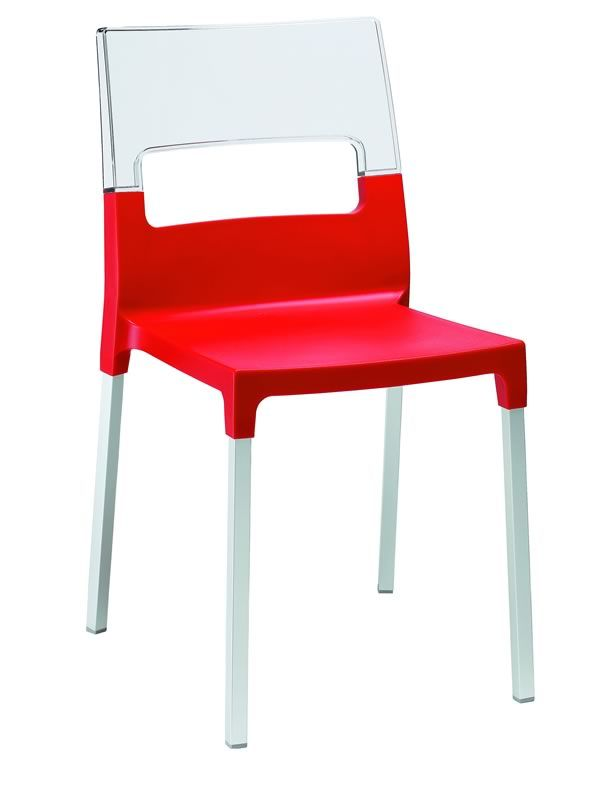 Chaise moderne rouge for Chaise cuisine rouge