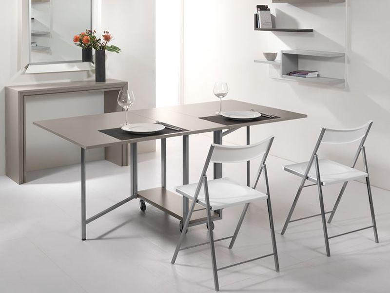 Archimede set set consolle con tavolo pieghevole 170 x 90 cm e 6 sedie sediarreda - Tavolo pieghevole con sedie ...