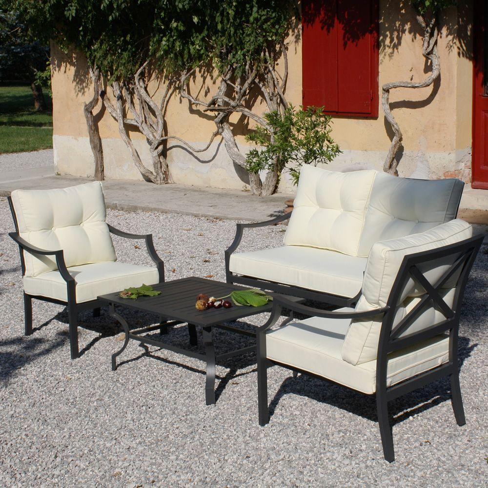 Kit esterno 15 set da esterno con struttura in alluminio - Divani da esterno offerte ...