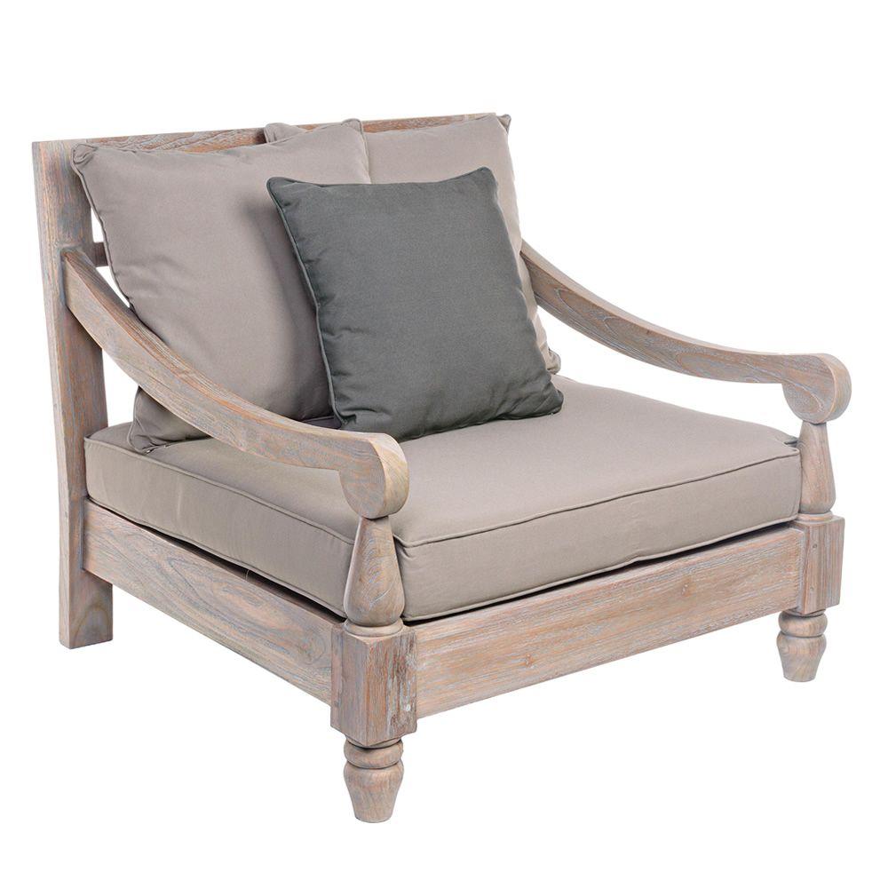 Simi set set de jardin en bois de teck fsc 2 fauteuils for Banc de jardin teck anglais