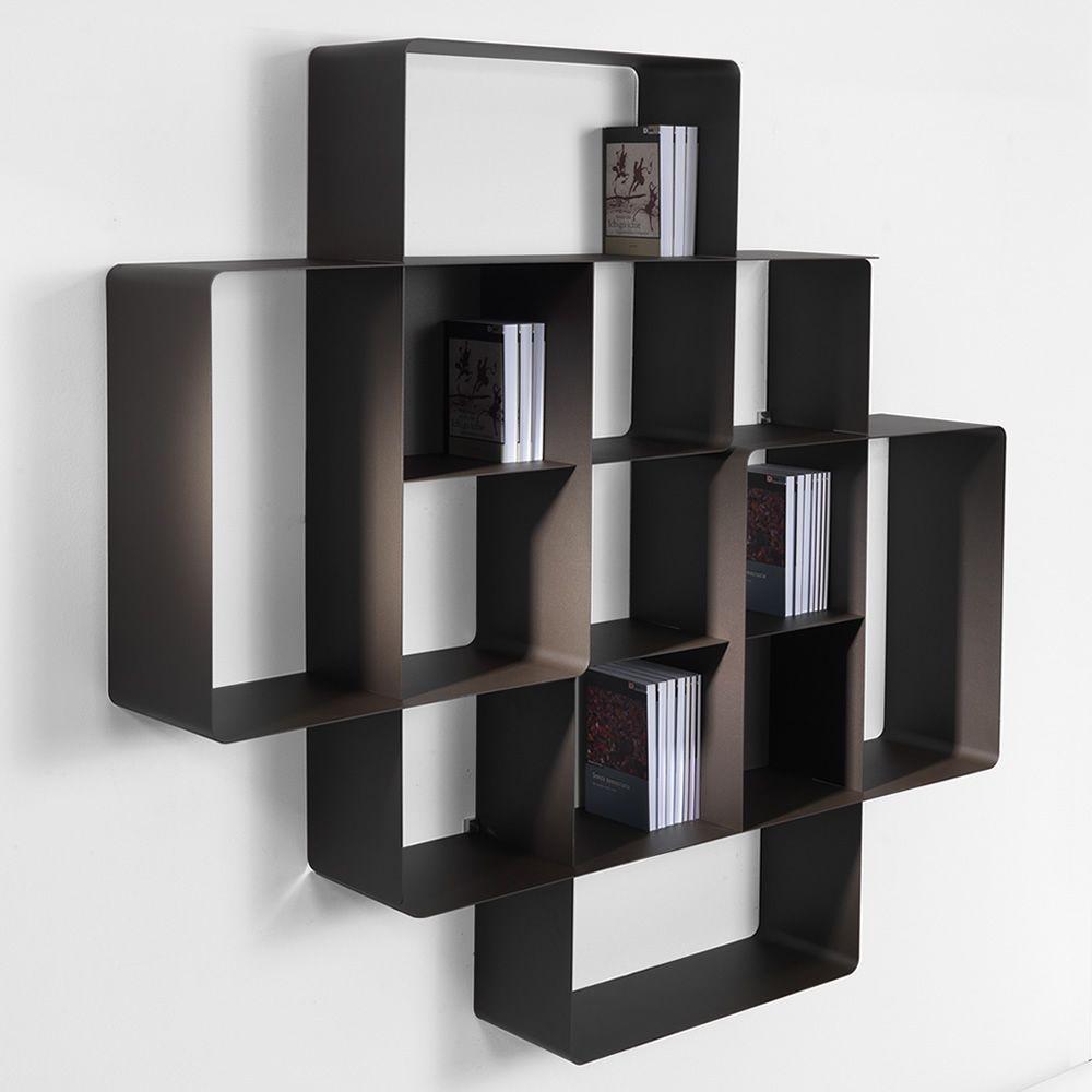 Mondrian C2 - Libreria componibile in metallo verniciato - Sediarreda