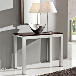 Pa500 table console extensible en aluminium et plateau en lamin mesurant 46 - Console extensible belgique ...