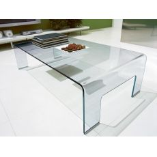CB507-R Real - Connubia - Calligaris coffee table made of curved glass