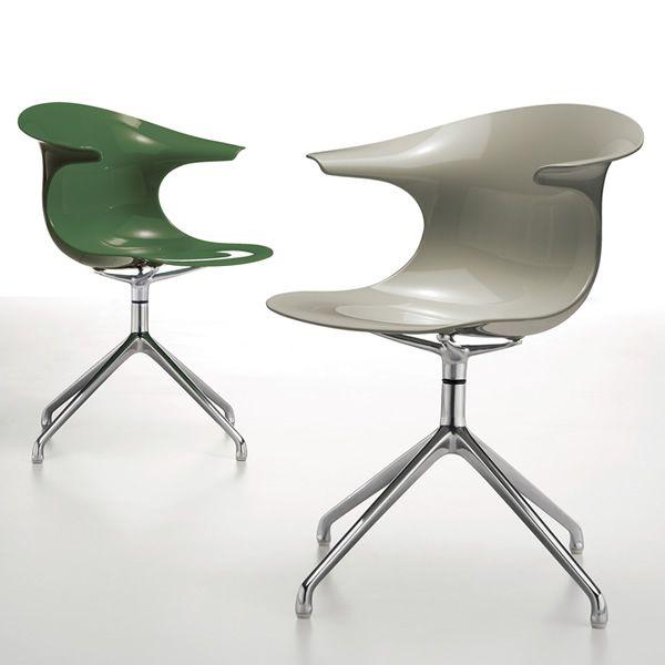 loop r: chaise pivotante infiniti en aluminium, assise en ... - Chaise De Bureau Sans Roulettes