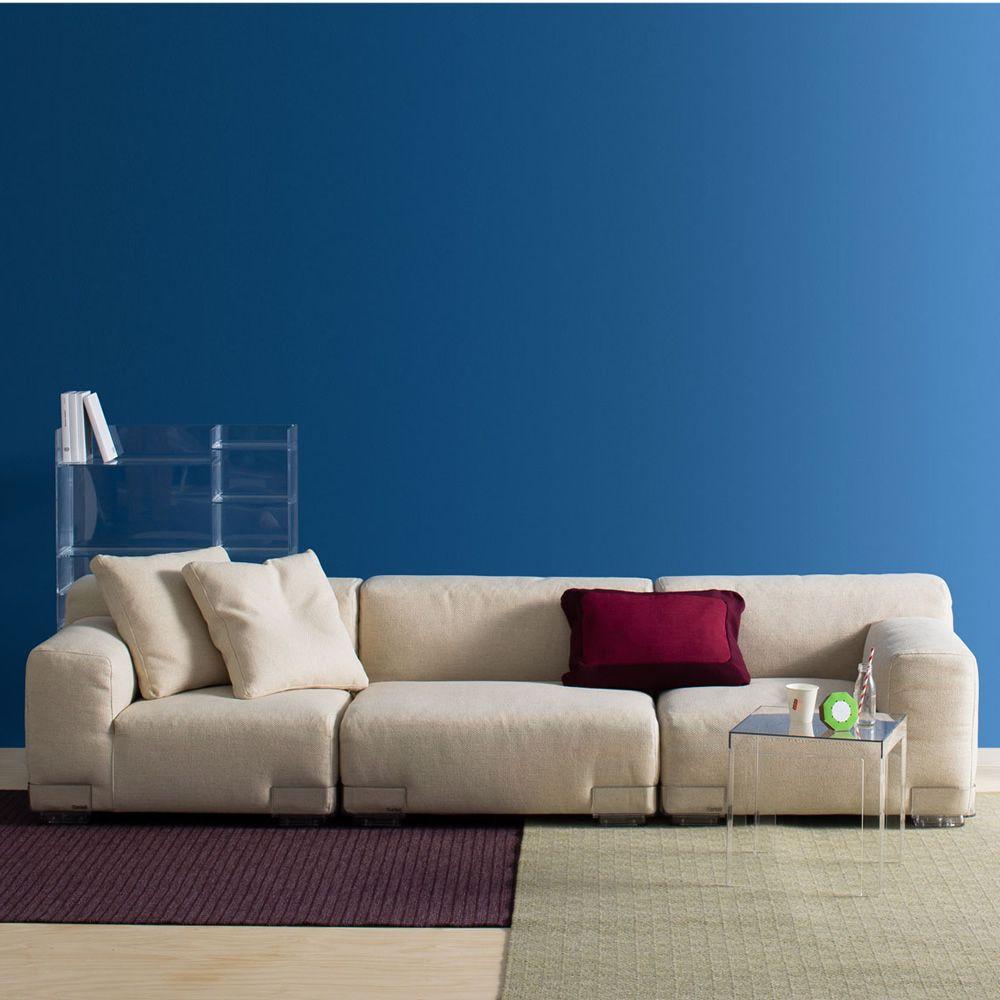 plastics duo 3p divano di design kartell 3 posti con piedini in policarbonato e rivestimento. Black Bedroom Furniture Sets. Home Design Ideas