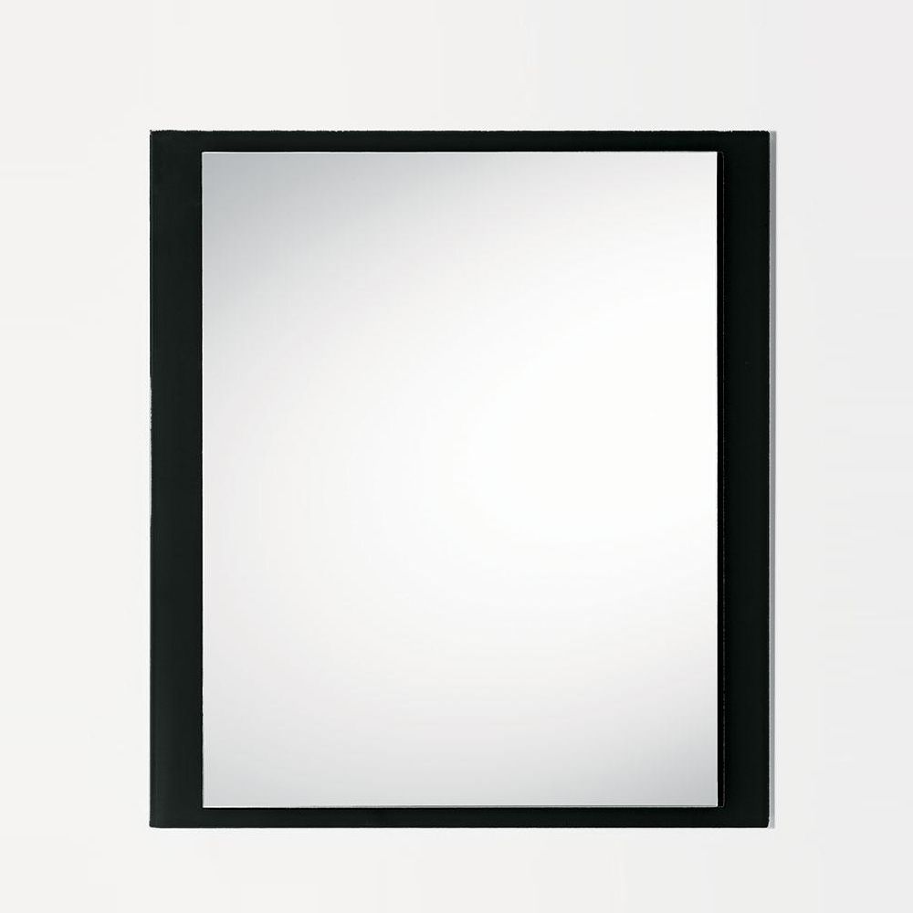 Line q mirror with coloured glass frame 80 x 90 cm for Miroir 80 x 90
