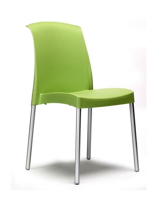 jenny 2075 stuhl aus metall und technopolymer stapelbar