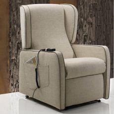 Azalea - Poltrona relax elettrica e regolabile, diversi rivestimenti e colori disponibili, completamente sfoderabile, disponibile anche con sistema Roller e kit massaggio