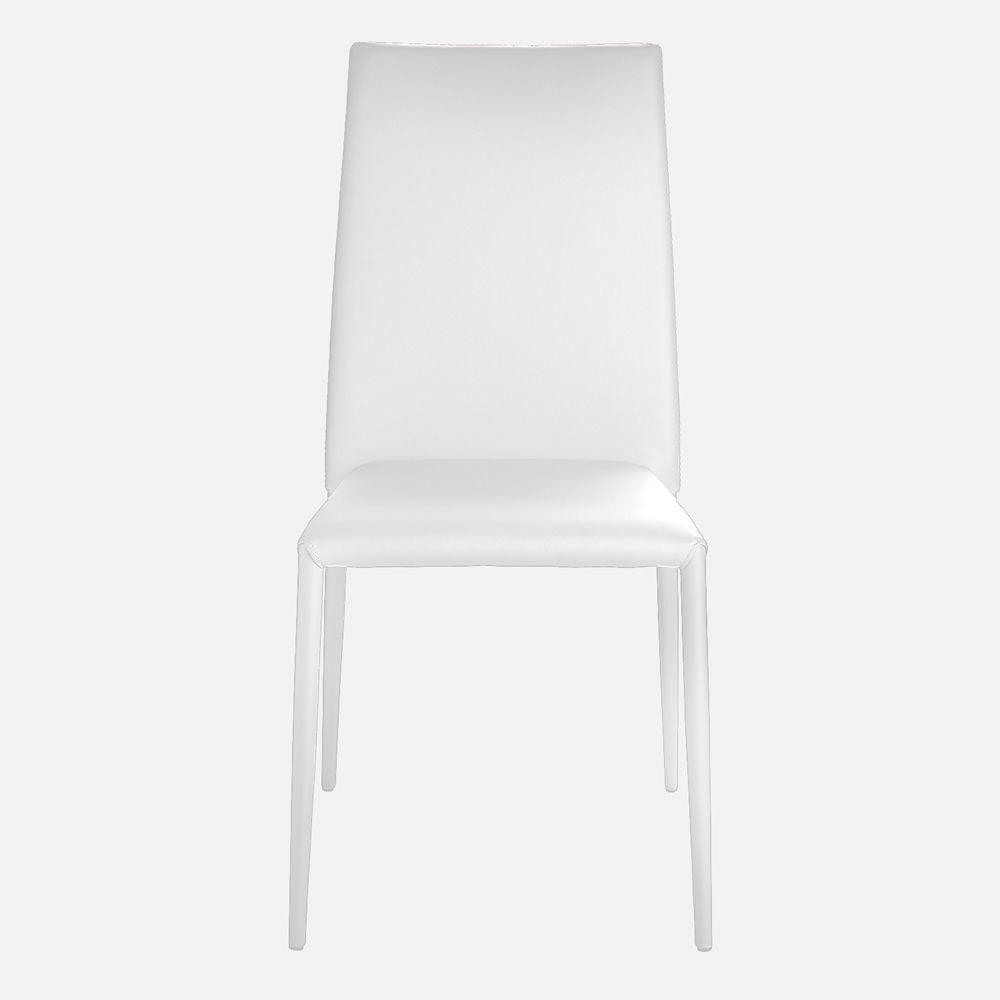 Sedia Classica Bianca Giudecca Midj : Vr sedia impilabile interamente rivestita in