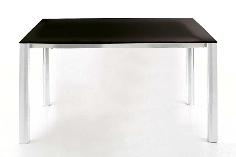 Goccia Table Extensible Colico Design En Aluminium Avec Plateau En Verre Rectangulaire 110 150