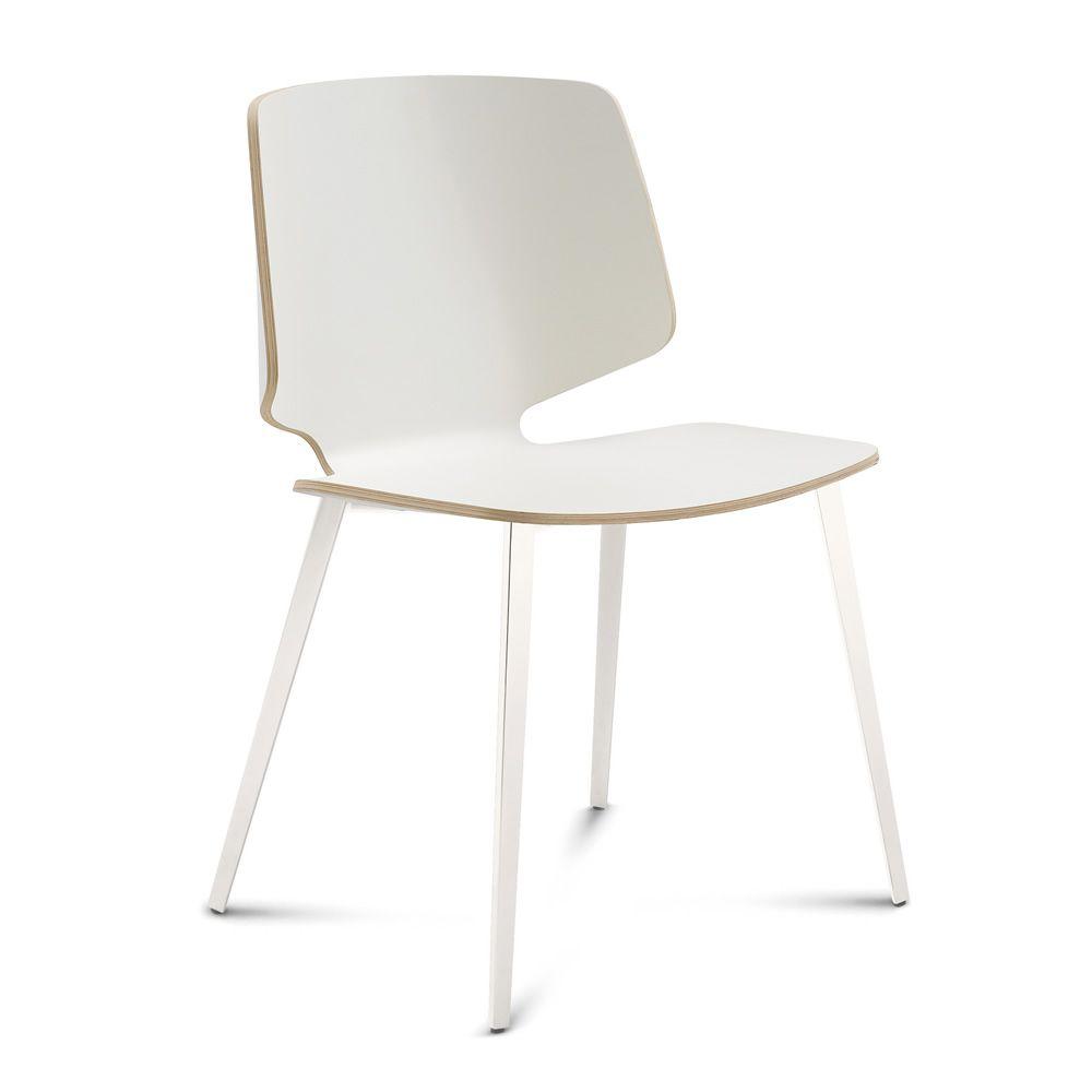 Fly tr chaise domitalia en m tal assise en bois sediarreda for Chaises fly