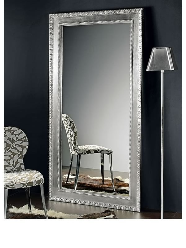 flat l miroir en bois avec cadre marquet d coration. Black Bedroom Furniture Sets. Home Design Ideas