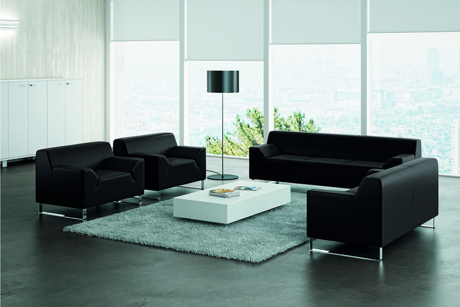 asso 1 2 oder 3 sitzer sofa f r wartezimmer mit. Black Bedroom Furniture Sets. Home Design Ideas