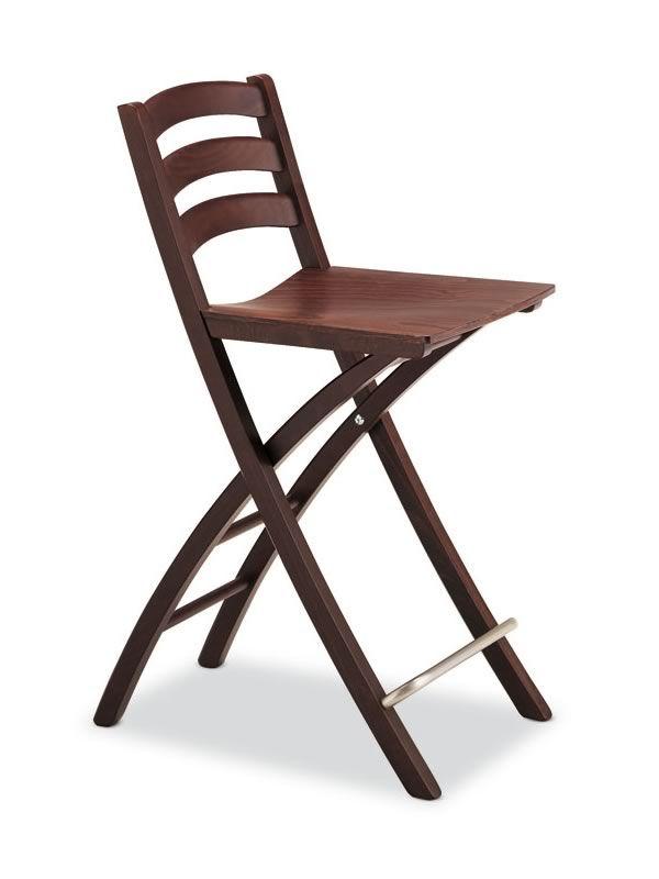 196 b sgabello pieghevole in legno con seduta in for Sgabello o vassoio pieghevole