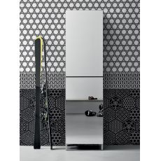 Linear - Entrance furniture-shoe rack with mirror doors, available in several colours