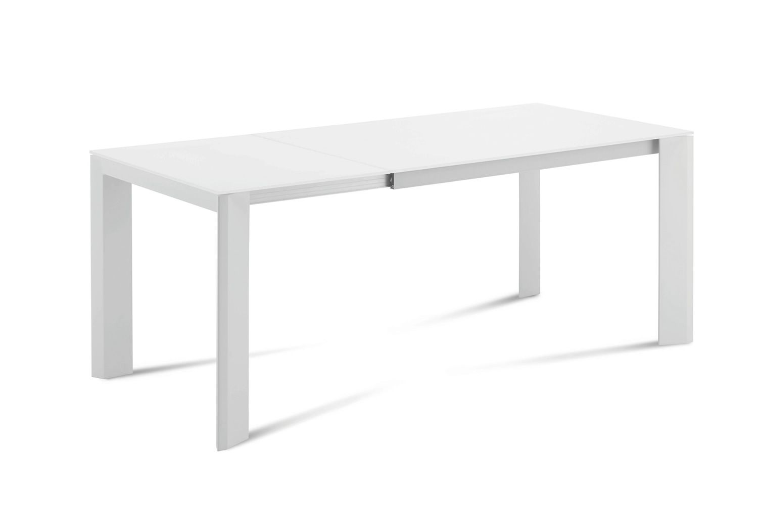 Neos 160 table domitalia en m tal plateau en verre ou for Table en acier