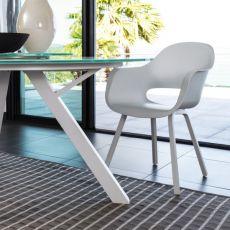 Circle - P - Sedia in alluminio e ABS, anche per giardino