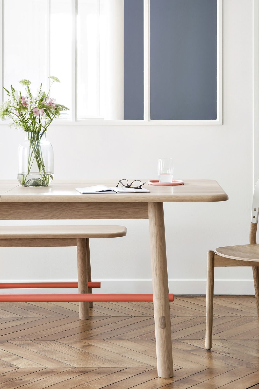 H l ne mesa extensible de madera y metal sediarreda - Mesa extensible de madera ...