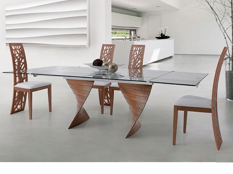 Issa sedia design in legno con schienale lavorato seduta imbottita sediarreda - Sedie in legno design ...
