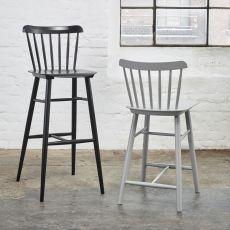 Ironica stool - Sgabello Ton in legno, con seduta in legno, altezza seduta 61 o 80 cm