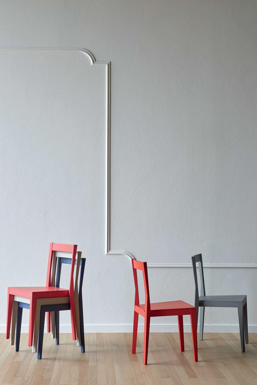 Emilia sedia miniforms in legno impilabile sediarreda - Sedia legno design ...