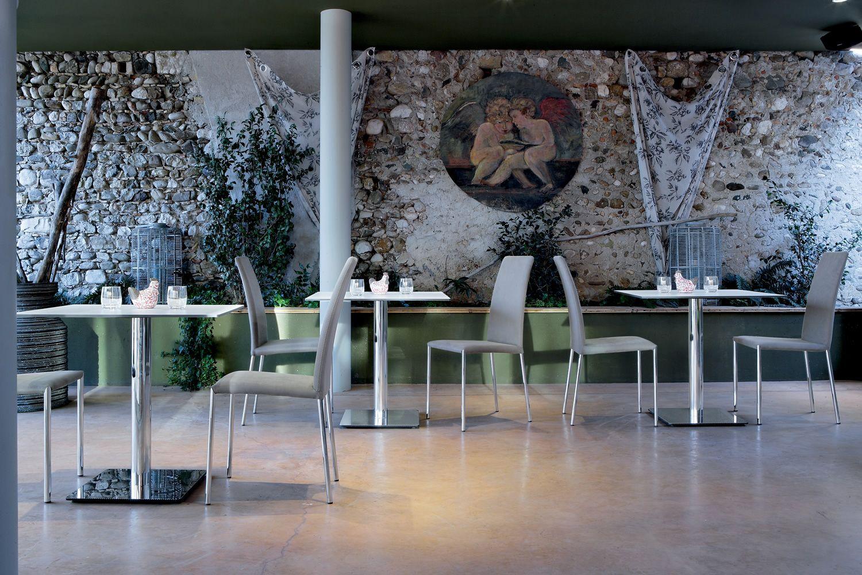 Composit base tavolo quadrata per bar e ristoranti in metallo