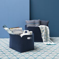 CS7155 Daryl - Set Calligaris storage holders-magazine rack, in felt, available in several colours