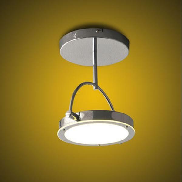 FA3117P - Plafoniera moderna in metallo e vetro, illuminazione LED - Sediarreda