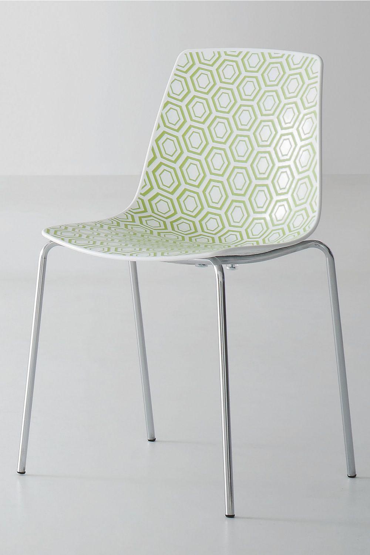 Alhambra sedia di design in metallo e tecnopolimero for Sedia a dondolo verde