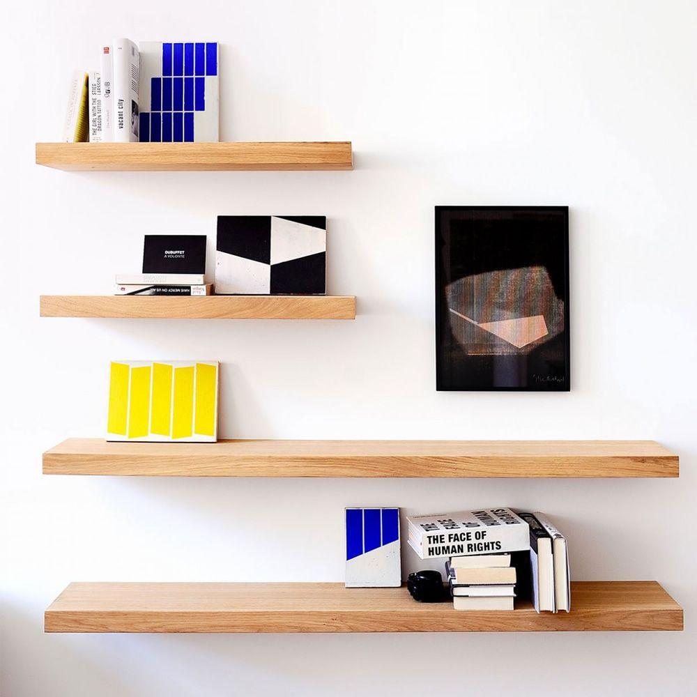 Wall shelf estante de pared ethnicraft en madera de roble - Estantes de madera para pared ...
