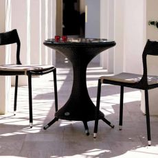 Nilo - Emu table made of metal and syntethic rattan, several top's sizes